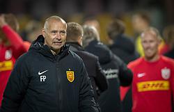 Cheftræner Flemming Pedersen (FC Nordsjælland) efter kampen i 3F Superligaen mellem FC Nordsjælland og Randers FC den 19. oktober 2020 i Right to Dream Park, Farum (Foto: Claus Birch).