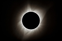 Total solar eclipse as seen from Evansville, Wyoming, August 21, 2017.
