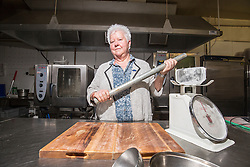 Val McDermid in the kitchen of The Golden Lion Hotel, Stirling, for the launch of Bloody Scotland.