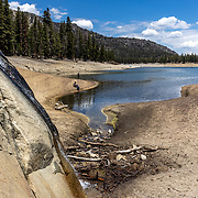 The drought enlarged shoreline at Horseshoe Lake which was at precariously low levels in July, 2021.