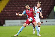 Ryan Loft shields the ball during the EFL Sky Bet League 2 match between Scunthorpe United and Bolton Wanderers at the Sands Venue Stadium, Scunthorpe, England on 24 November 2020.