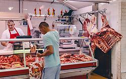THEMENBILD - Fleischmarkt, aufgenommen am 13. August 2019 in Rijeka, Kroatien // fresh Meat market in Rijeka, Croatia on 2019/08/13. EXPA Pictures © 2019, PhotoCredit: EXPA/ JFK