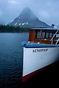 Tour Boat at Two Medicine, Glacier National Park. Montana.