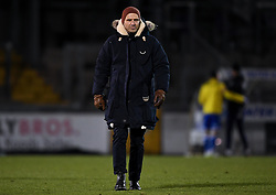Bristol Rovers manager Paul Tisdale after the final whistle of the match  - Mandatory by-line: Ryan Hiscott/JMP - 12/01/2021 - FOOTBALL - Memorial Stadium - Bristol, England - Bristol Rovers v AFC Wimbledon - Papa John's Trophy
