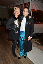 AMANDA ELIASCH and her son CHARLES ELIASCH at the Liberatum Cultural Honour For Sir Terence Conran Dinner held at the Sanderson Hotel, Berners Street, London on 19th November 2013.