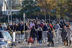 © Licensed to London News Pictures. 04/11/2020. London, UK. Members of the public queuing at IKEA in Greenwich, east London; as a second nation lockdown is due on Thursday [05/11/2020]. Strict measures are due to be re-introduced in an attempt to fight a second wave of the COVID-19 strain of Coronavirus. Photo credit: Marcin Nowak/LNP