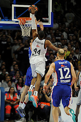 15.04.2015, Palacio de los Deportes stadium, Madrid, ESP, Euroleague Basketball, Real Madrid vs Anadolu Efes Istanbul, Playoffs, im Bild Real Madrid´s Marcus Slaughter // during the Turkish Airlines Euroleague Basketball 1st final match between Real Madrid vand Anadolu Efes Istanbul t the Palacio de los Deportes stadium in Madrid, Spain on 2015/04/15. EXPA Pictures © 2015, PhotoCredit: EXPA/ Alterphotos/ Luis Fernandez<br /> <br /> *****ATTENTION - OUT of ESP, SUI*****