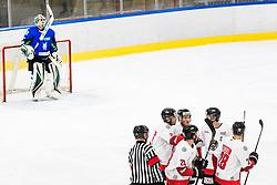 Players of Austria during match at Beat Covid 19 IIH Tournament 2021 between national teams of Slovenia and Austria in Hala Tivoli on 15th of May, 2021, Ljubljana, Slovenia . Photo By Grega Valancic / Sportida