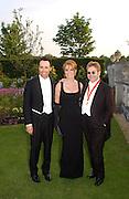 David Furnish, the Duchess of York and Sir Elton John,  Sir Elton John's White Tie and Tiara Ball. Windsor, 28 June 2003. © Copyright Photograph by Dafydd Jones 66 Stockwell Park Rd. London SW9 0DA Tel 020 7733 0108 www.dafjones.com