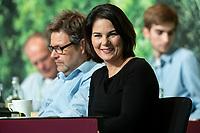 16 NOV 2019, BIELEFELD/GERMANY:<br /> Robert Habeck (L), B90/Gruene, Bundesvorsitzender, Annalena Baerbock (R), B90/Gruene, Bundesvorsitzende, Bundesdelegiertenkonferenz Buendnis 90 / Die Gruenen, Stadthalle<br /> IMAGE: 20191116-01-072<br /> KEYWORDS: Parteitag, Bundesparteitag, Party congress, BDK; Die Grünen