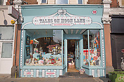 Exterior of Tales on Moon Lane on 4th October 2015 in London, United Kingdom. Specialist children's bookshop in Herne Hill, South London