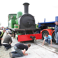 The Slieve Callan back on the tracks at Moyasta on Monday.<br /> <br /> Photograph by Eamon Ward