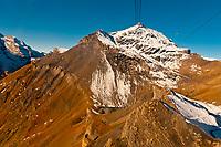 Looking to Piz Gloria, atop the Schilthorn, Swiss Alps, Canton Bern, Switzerland