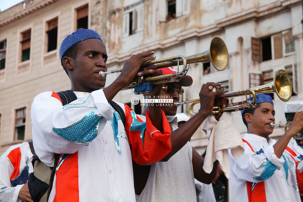 Trumpet players at Carnival; Havana; Cuba,