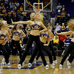 December 13, 2011; Baton Rouge, LA; The LSU Lady Tigers tiger girls dancers perform during the first half of a game against the UCLA Bruins at the Pete Maravich Assembly Center.  Mandatory Credit: Derick E. Hingle-US PRESSWIRE
