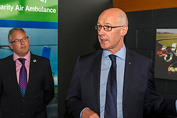 Pictured:  SCCA Chief Executive David Craig John Swinney<br /> Deputy First Minister and local MSP  John Swinney visited Perth Airport today to visit Scotland's Charity Air Ambulance. The Perthshire North MSP will meet volunteers and present certificates to mark the start of National Volunteers' Week.<br /> <br /> <br /> Ger Harley | EEm 1 June 2018