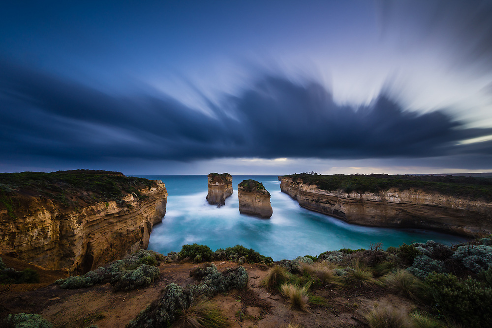 Islend Arches rock formation on the Great Ocean Road, Australia