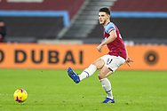 Declan Rice (41) of West Ham United during the Premier League match between West Ham United and West Bromwich Albion at the London Stadium, London, England on 19 January 2021.