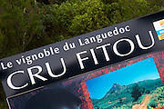 Le Vignoble du Languedoc Cru Fitou, The Fitou vineyards in Languedoc. Fitou. Languedoc. France. Europe.