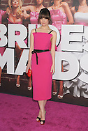 """WESTWOOD, CA - APRIL 28: Rose Byrne arrives at the premiere of Universal Pictures' """"Bridesmaids"""" held at Mann Village Theatre on April 28, 2011 in Los Angeles, California."""