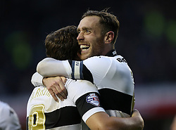 Derby County's Richard Keogh celebrates with goal scorer Derby County's Chris Martin-Photo mandatory by-line: Matt Bunn/JMP - Tel: Mobile: 07966 386802 02/11/2013 - SPORT - FOOTBALL - Elland Road - Leeds - Leeds United v Yeovil Town - Sky Bet Championship - Photo mandatory by-line: Matt Bunn/JMP - Tel: Mobile: 07966 386802 09/11/2013 - SPORT - FOOTBALL - Pride Park - Derby - Derby County v Sheffield Wednesday - Sky Bet Championship