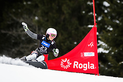 Yvonne Schuetz (SUI) competes during Qualification Run of Women's Parallel Giant Slalom at FIS Snowboard World Cup Rogla 2016, on January 23, 2016 in Course Jasa, Rogla, Slovenia. Photo by Ziga Zupan / Sportida