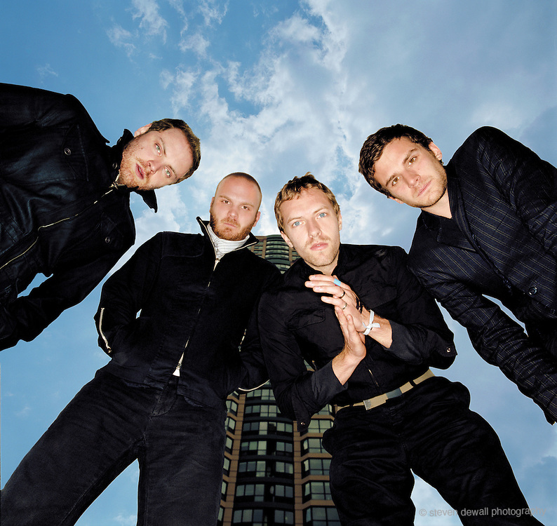 Coldplay photographed in Chicago, Illinois during X&Y tour in 2005
