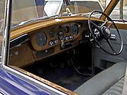 dashboard of an old Rolls Royce car