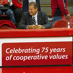 16 October 2014: Illinois State University Athletic Director Larry Lyons.  Annual Hoopfest at Illinois State Redbirds  in Redbird Arena, Normal IL.