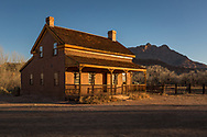 Alonzo H. Russell home, Grafton Townsite, ghost town of a Mormon farm settlement along the Virgin River, south of Zion National Park, Utah