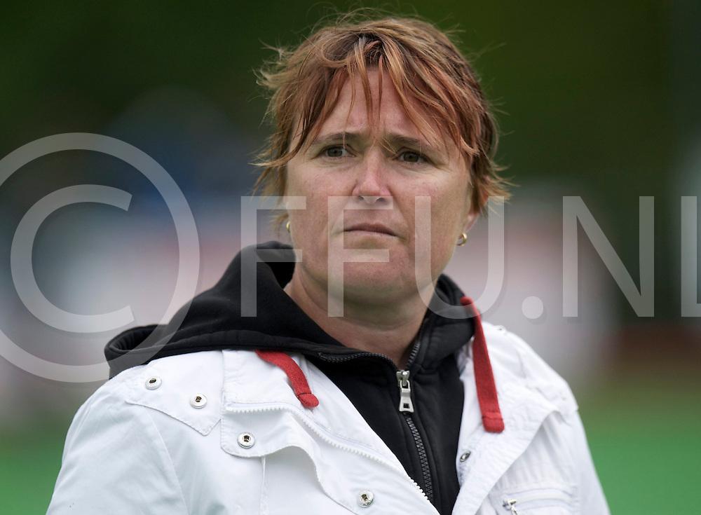 BILTHOVEN - SCHC v Amsterdam Dames<br /> Hoofdklasse dames Play Off<br /> Foto:   Amsterdam coach Allison Annan<br /> FFU PRESS AGENCY COPYRIGHT FRANK UIJLENBROEK