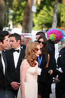 David Schwimmer and Jessica Chastain arrive at the gala screening Madagascar 3: Europe's Most Wanted at the 65th Cannes Film Festival. On Friday 18th May 2012 in Cannes Film Festival, France.