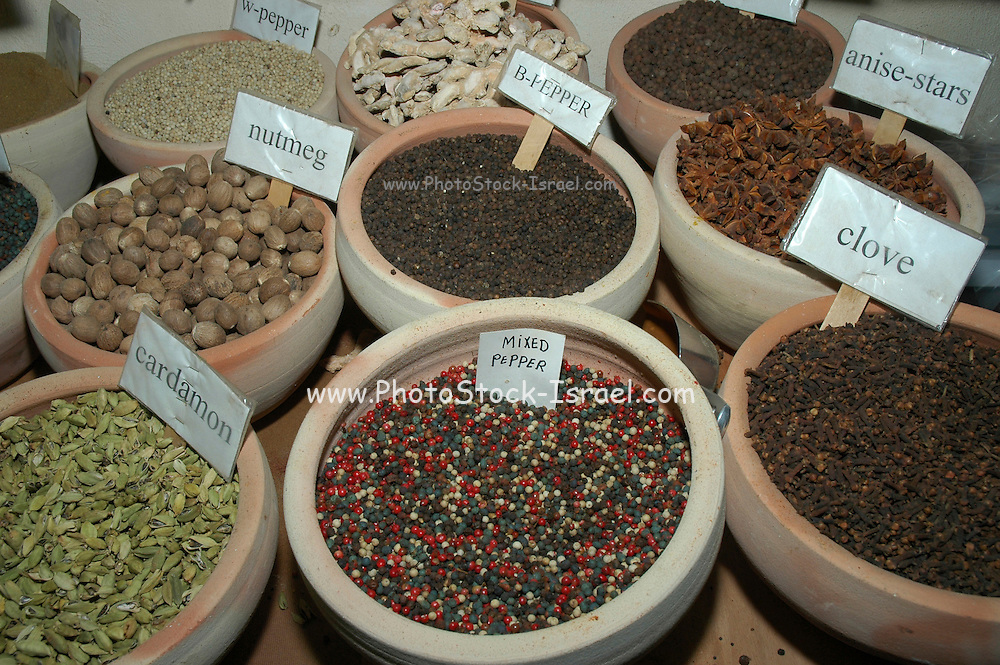 spices in the Market, Old city, Jerusalem, Israel