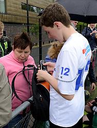 11-05-2014 NED: BvdGF Medtronic Junior Cup Diabetes selectie training, Arnhem<br /> Op Papendal werd de laatste selectiewedstrijd van de Medtronic Junior Cup Diabetes gehouden. Uit een groep van dertig kinderen worden 11 kinderen gekozen die deelnemen aan het WK Diabetes