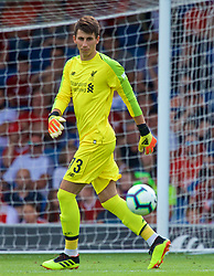 BURY, ENGLAND - Saturday, July 14, 2018: Liverpool's goalkeeper Kamil Grabara during a preseason friendly match between Bury FC and Liverpool FC at Gigg Lane. (Pic by Paul Greenwood/Propaganda)