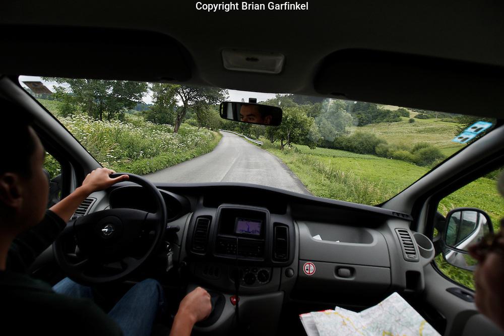 Driving from Dolny Kubin to Malatina, Slovakia on Wednesday July 6th 2011.  (Photo by Brian Garfinkel)