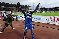 Joie Alexandre LACAZETTE - 07.12.2014 - Evian Thonon / Lyon - 17eme journee de Ligue 1 -<br />Photo : Jean Paul Thomas / Icon Sport