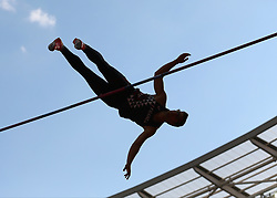 France's Axel Chapelle competes in the Mens Pole Vault during day two of the Athletics World Cup at The Queen Elizabeth Stadium, London.