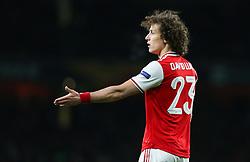 David Luiz of Arsenal - Mandatory by-line: Arron Gent/JMP - 27/02/2020 - FOOTBALL - Emirates Stadium - London, England - Arsenal v Olympiacos - UEFA Europa League Round of 32 second leg