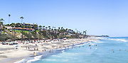 The Coast of San Clemente California During Summer