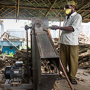 CAPTION: Chopping up biomass. LOCATION: Gayari, Araria District, Bihar, India. INDIVIDUAL(S) PHOTOGRAPHED: Imran Hussain.