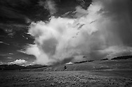 Dynamic skies overlooking Hayden Valley in Yellowstone National Park.