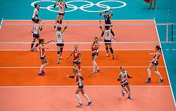 16-08-2016 BRA: Olympic Games day 11, Rio de Janeiro<br /> De Nederlandse volleybalsters staan in de olympische halve finales. In een overtuigende wedstrijd, waarin alleen de derde set werd verloren, was Oranje te sterk voor Zuid-Korea: 25-19, 25-14, 23-25 en 25-20.