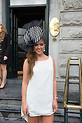 Jessica Langan, Galway at the Most Stylish Lady event at Hotel Meyrick  on ladies day of The Galway Races. Photo:Andrew Downes