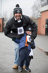 St Mirren fans arrive for the Ladbrokes Scottish Premier League match at St Mirren Park, St Mirren.