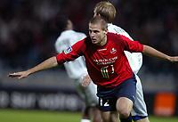 Fotball<br /> Frankrike 2004/05<br /> Lille v Bastia<br /> 16. oktober 2004<br /> Foto: Digitalsport<br /> NORWAY ONLY<br /> MATHIEU BODMER (LIL) AFTER HIS GOAL  *** Local Caption *** 40001376