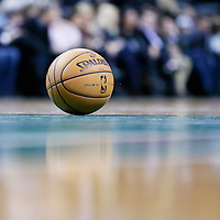 16 January 2013: A ball game is seen on the court during the New Orleans Hornets 90-78 victory over the Boston Celtics at the TD Garden, Boston, Massachusetts, USA.