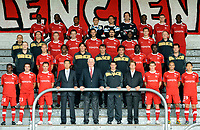 FOOTBALL - FRENCH CHAMPIONSHIP 2010/2011 - L1 - PRESENTATION VALENCIENNES FC - 23/09/2010 - PHOTO GUY JEFFROY / DPPI - VALENCIENNES TEAM . 1ST ROW LEFT TO RIGHT : AMARA BANGOURA / JOSE SAEZ / GAEL DANIC / MAKOTO SANO (TOYOTA FRANCE) / FRANCIS DECOURRIERE (PDT) / PHILIPPE MONTANIER / THIERRY MECHIN (SITA) / DAVID DECOURTIOUX / MATHIEU DOSSEVI / TAE HEE NAM . 2ND ROW : THOMAS DUEE (KINE) / RENAUD COHADE / CARLOS SANCHEZ MORENO / PHILIPPE BURLE (ASS COACH) / MICHEL TROIN (ASS COACH) / CHRISTIAN MAS (GOAL KEEPER COACH) / REMI GOMIS / VINCENT ABOUBAKAR / JEROME BAICRY (KINE). 3RD ROW : MEHDI DERBAL (INTENDANT) / ERIC MAUDE (DOC) / RUDY MATER / RAFAEL SCHMITZ / GREGORY PUJOL / MILAN BISEVAC / BENJAMIN ANGOUA / GUILLAUME LORIOT / MARC CHASSELAT (DOC). 4TH ROW : NICOLAS ISIMAT MIRIN / MAMADOU SAMASSA / GAETAN BONG / JEAN LOUIS LECA / NICOLAS PENNETEAU / GREGORY WIMBEE / BOBO BALDE / NICOLAS PALLOIS / CHRISTOPHER MFUYI .