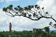 Mauritius Island. Grand Bassin. A Shiba statue at background, the second largest in the world