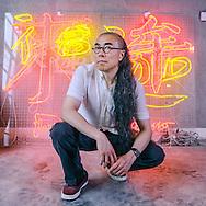 CHINA / Shanghai /<br /> <br /> Artist  Gu Wenda in his atelier <br /> <br /> © Daniele Mattioli / Anzenberger